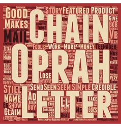 Chain of Fools text background wordcloud concept vector image vector image