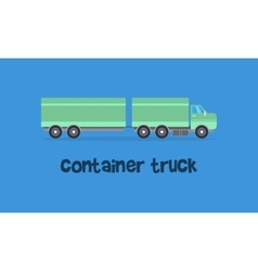 Container truck of art vector image