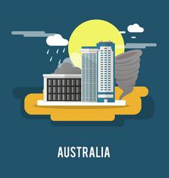 Darwin northern territory historic city australia vector