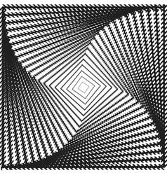 Design monochrome twirl square background vector