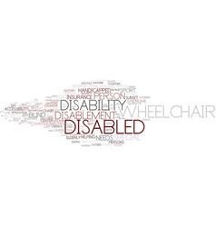 Disablement word cloud concept vector