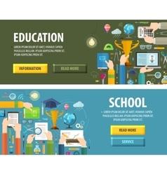 education logo design template school or vector image