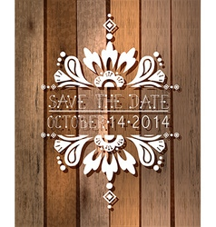 floral save the date invitation card vector image