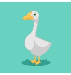 funny cartoon Goose vector image vector image