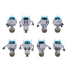 Futuristic robot vector image