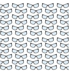 glasses accessory trendy seamless pattern vector image vector image
