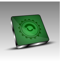 green square with gear vector image
