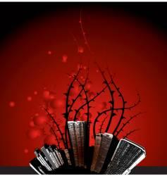 grunge city thorns vector image