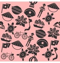 Hand drawn vietnam pattern vector