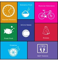 healthy life style icon vector image vector image