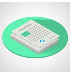 isometric flat of documents vector image