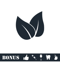 Leaves icon flat vector image