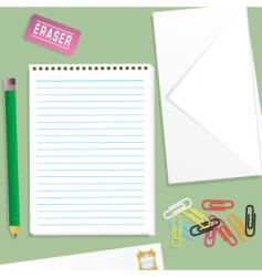 letter writing kit vector image vector image