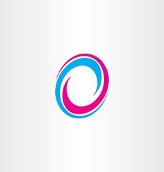 logotype letter o sign 0 icon vector image vector image