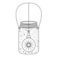 Mason jar of christmas season design vector