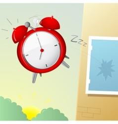 Morning alarm clock vector image
