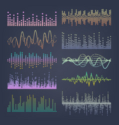 music sound waves classic sound wave from vector image vector image