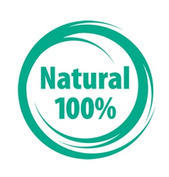 natural sign of quality vector image vector image