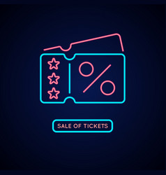 neon poster sale of tickets modern vector image vector image