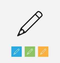 Of teach symbol on pen outline vector