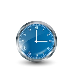 Realistic blue modern clock vector image vector image