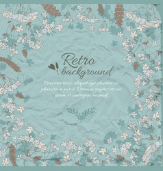 Retro flowery decorative background vector