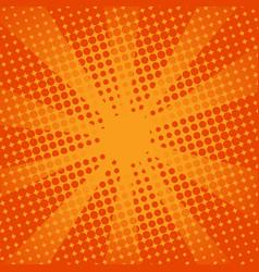 retro rays comic orange background vector image vector image