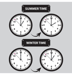 Summer and winter time shifting icons eps10 vector