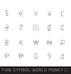 World money thin symbol eps10 vector