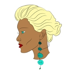 Young african woman vector