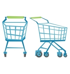 Empty shopping carts vector