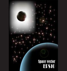 Galaxy poster vector