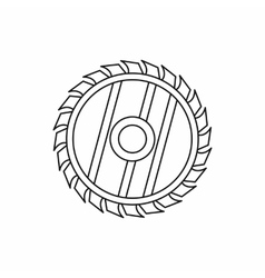 Saw circular wheel icon outline style vector