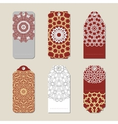 Christmas gift tags with vector