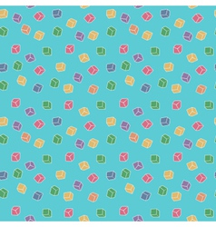 Colorful cubes pattern vector