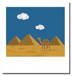 Egyptian pyramids photo vector