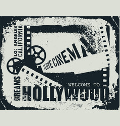 Template grunge cinema poster vector