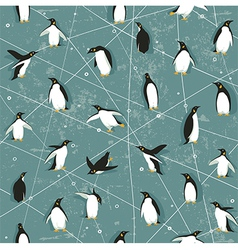Penguin pattern vector