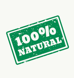 100 natural stamp in vector