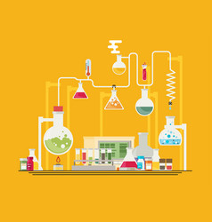 Medical laboratory infographics vector