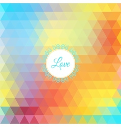 Colorful rainbow triangular background vector