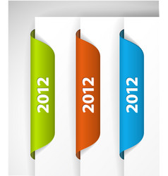 2012 labels stickers vector