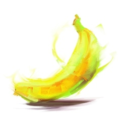 Drawing banana vector
