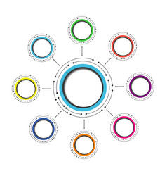 494modern circle infographic2 vector