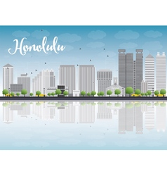 Honolulu hawaii skyline vector