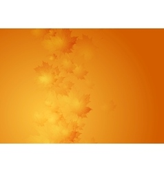 Autumn orange gradient background with blurred vector