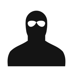 Man in a mask black simple icon vector