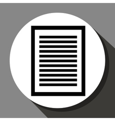 Document or sheet icon vector