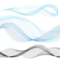 Set of graphics wave on a white background vector