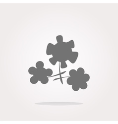 Flower app web glossy icon button Web Icon vector image